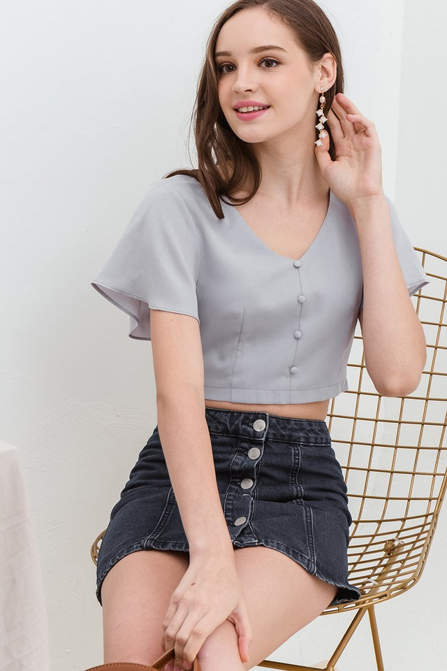 Belle Top Grey Lilac