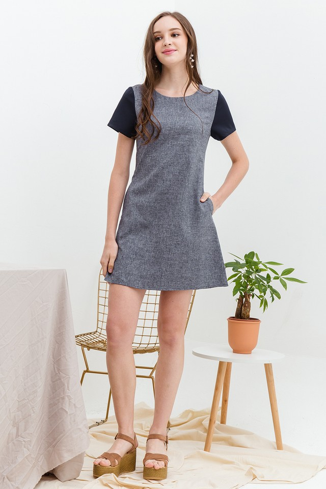 Harriet Dress Navy