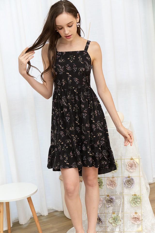 Xenna Dress Black Floral