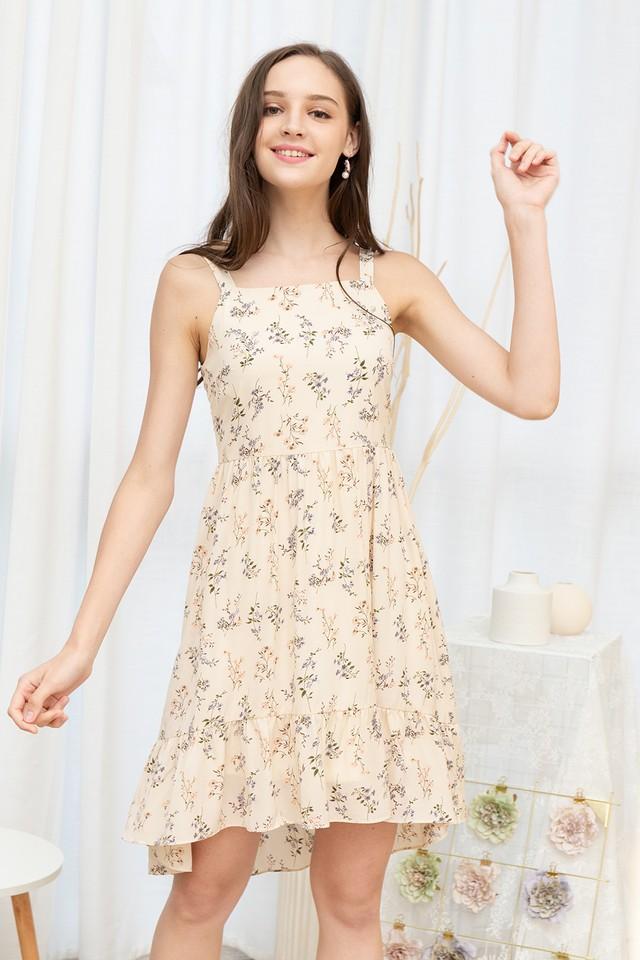 Xenna Dress Cream Floral