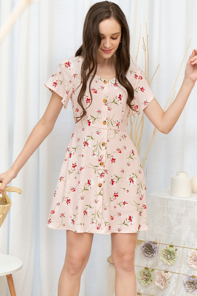 Jania Dress Pink Floral