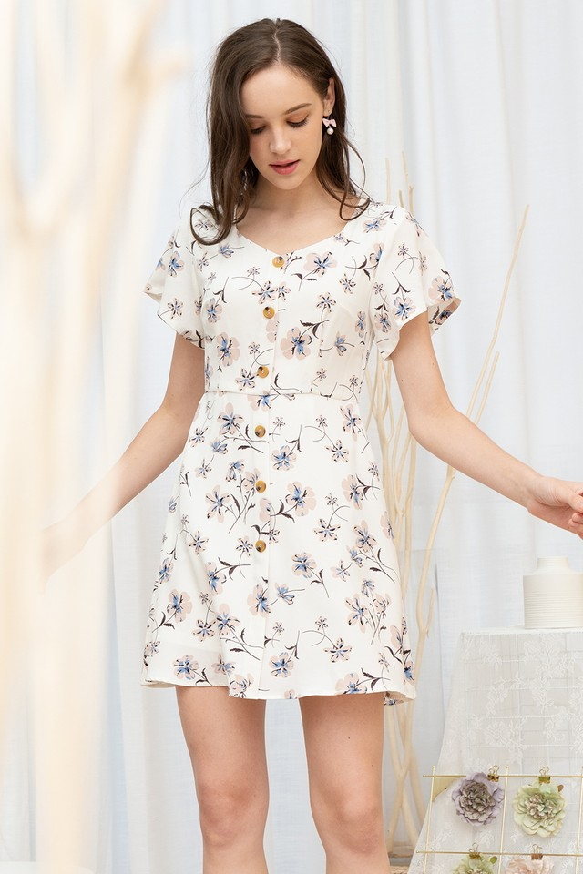 Jania Dress White Floral