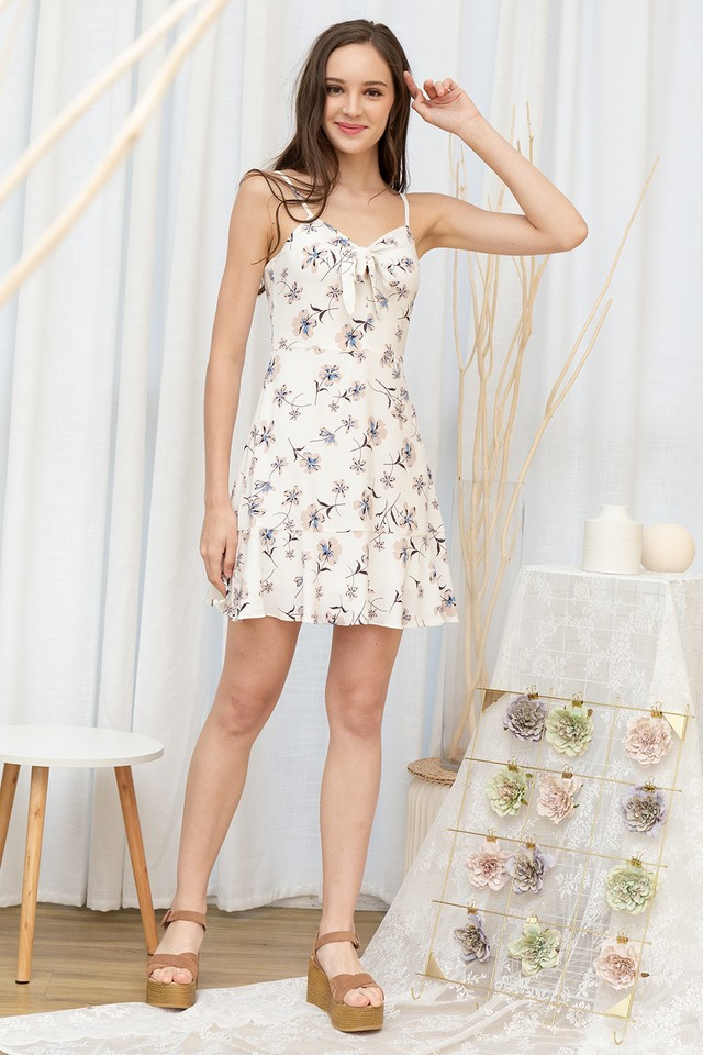 Lindy Dress White Floral