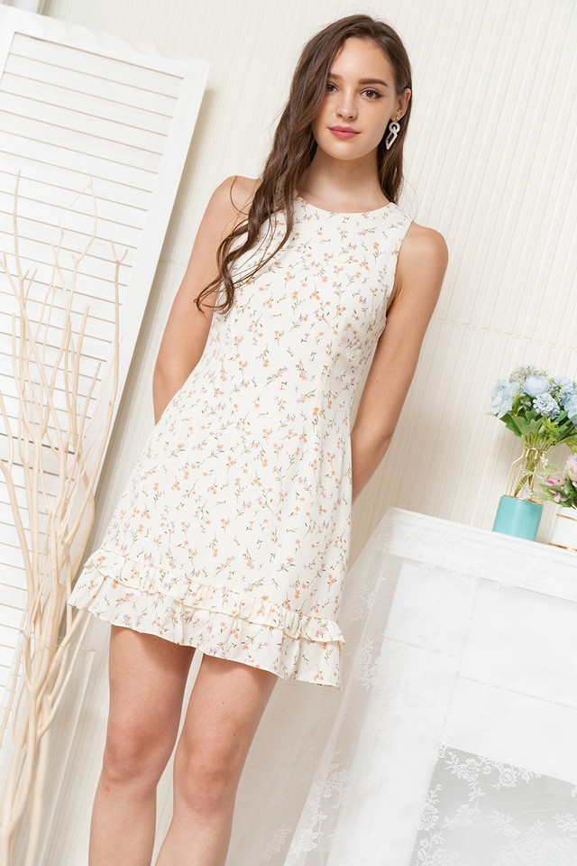 Dilys Dress Cream Floral