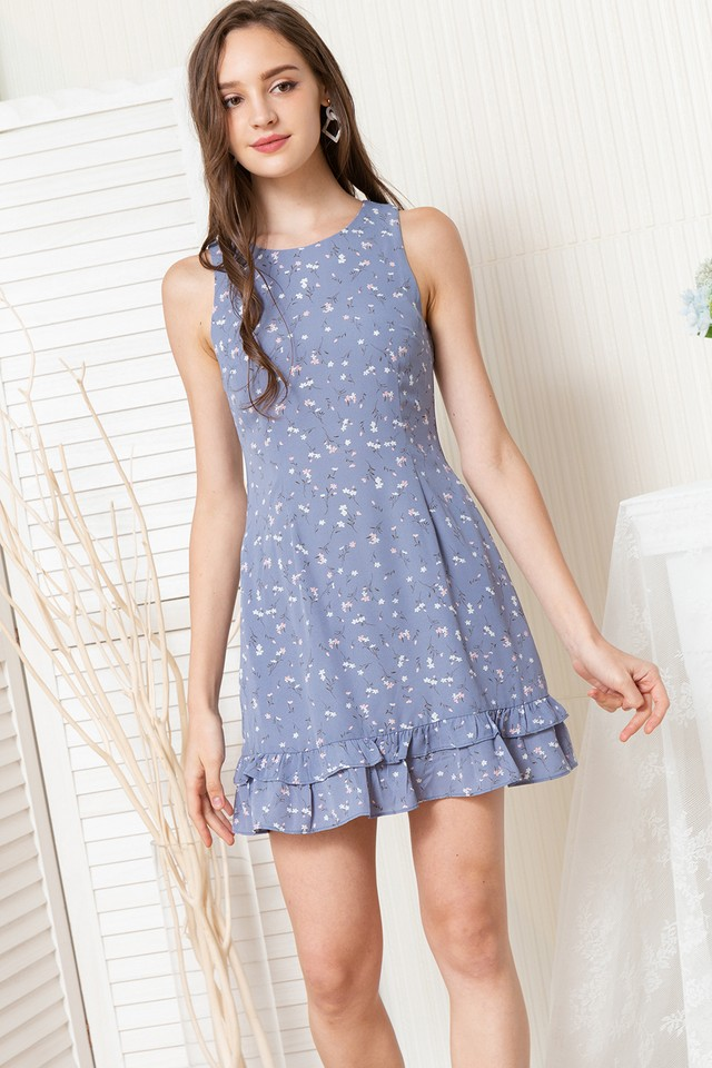 Dilys Dress Blue Floral