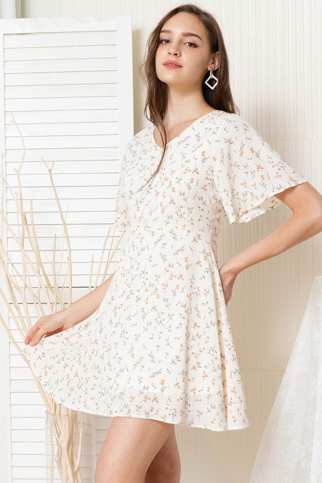 Amberlyn Dress Cream Floral