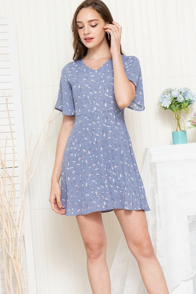 Amberlyn Dress Blue Floral