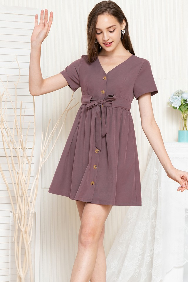 Delanie Dress Mauve