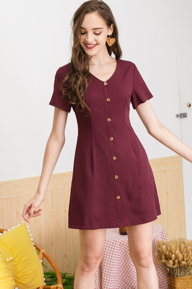 Dalona Dress Maroon