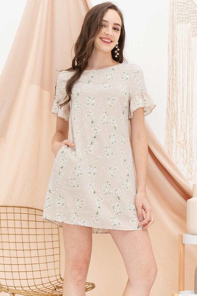 Abi Dress Cream Floral