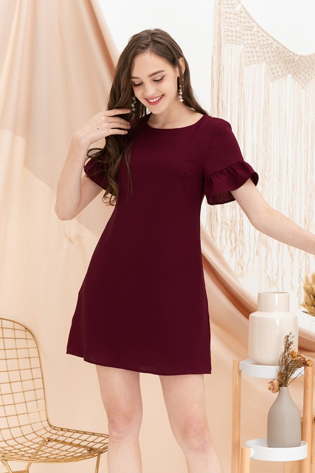 Abi Dress Maroon