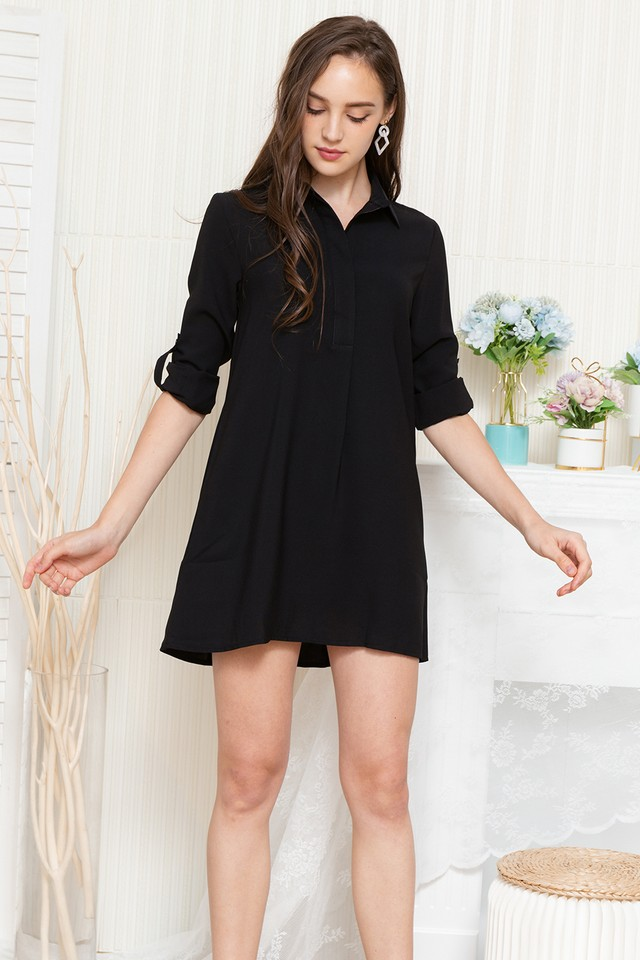 Ondine Shirtdress Black