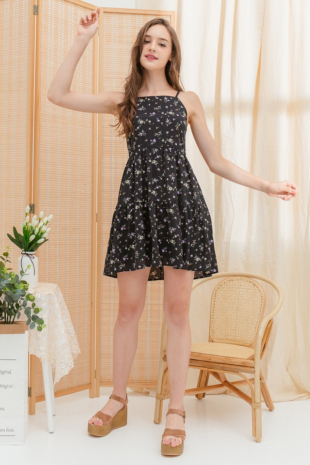 Akira Dress Black Floral