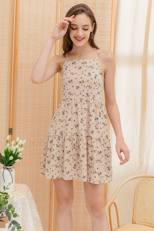 Akira Dress Cream Floral