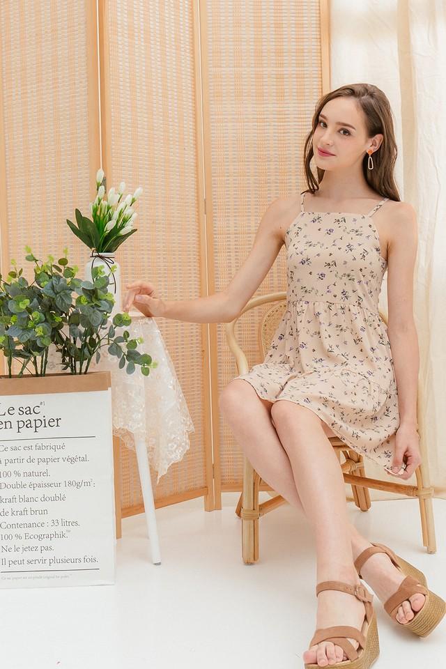 Akira Dress Cream Floral