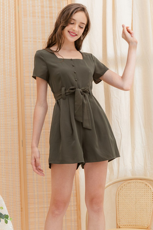 Farley Playsuit Army
