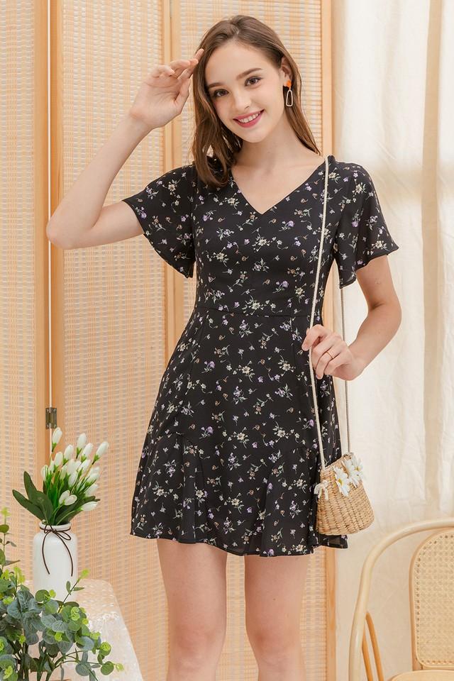 Lucina Dress Black Floral