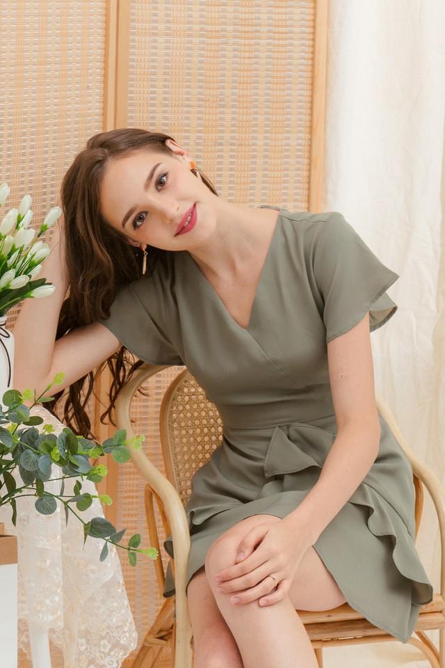Vicki Dress Sage