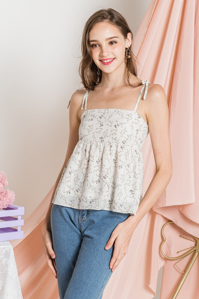 Cordelia Top White Floral