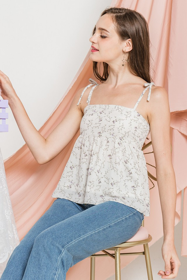Cordelia Top White Floral