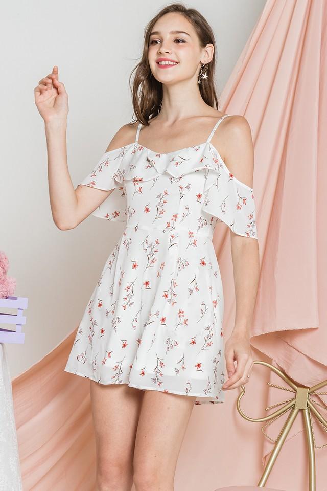 Frances Playsuit White Floral