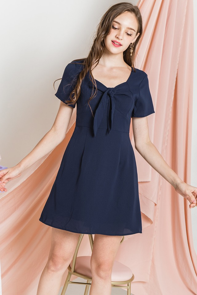 Clemence Dress Navy