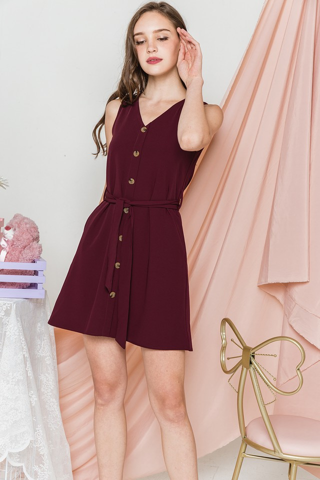 Devonne Dress Maroon