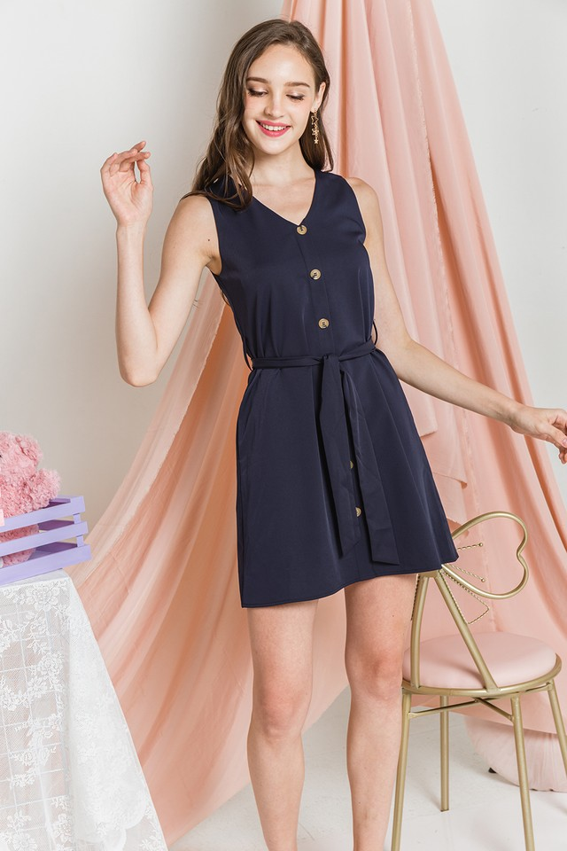 Devonne Dress Navy