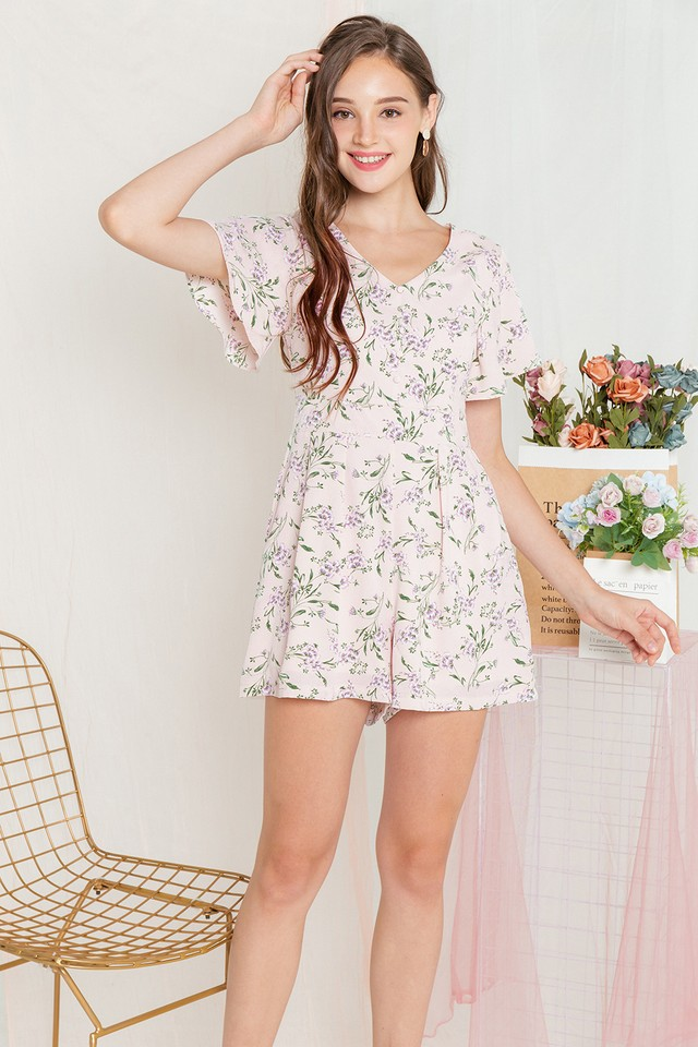 Clovera Playsuit Pink Floral