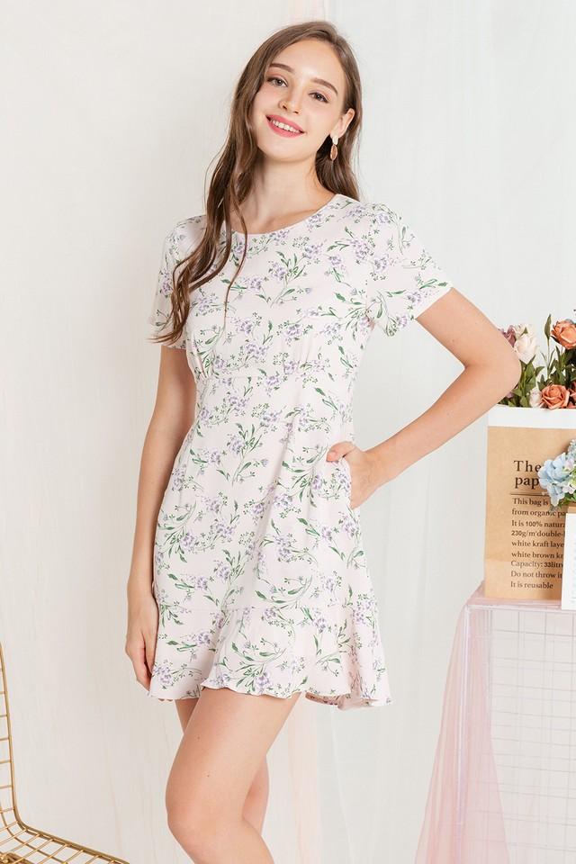 Bev Dress Pink Floral
