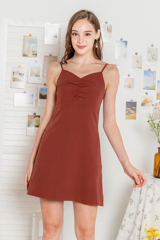 Latisha Dress Terracotta