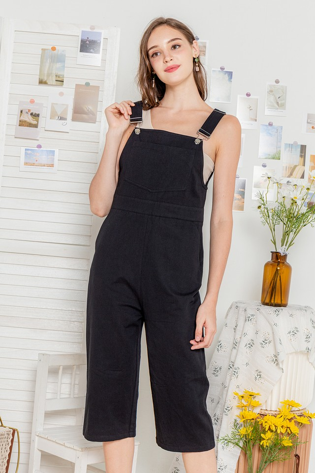 Adreanna Dungaree Black