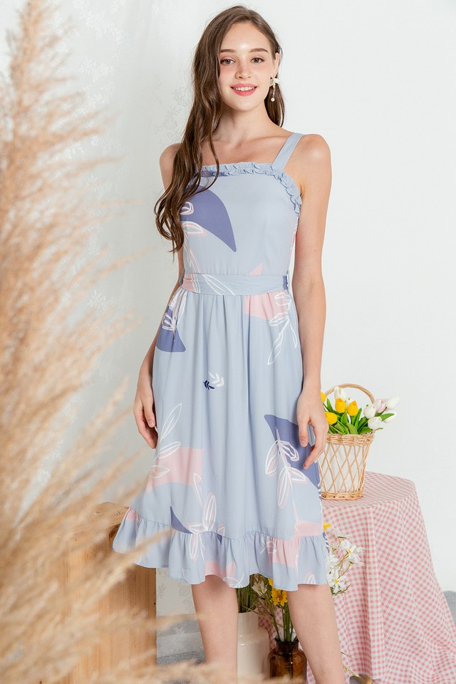 Venetta Dress Purple Abstract
