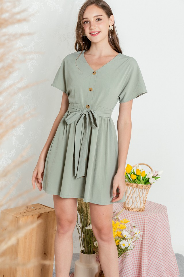 Loyla Dress Sage