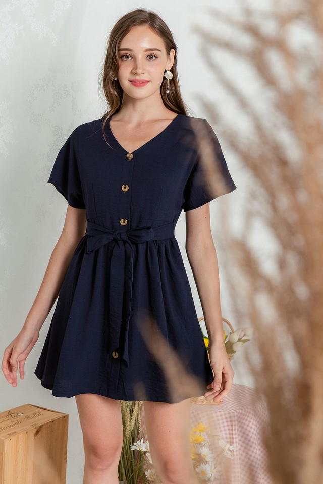 Loyla Dress Navy