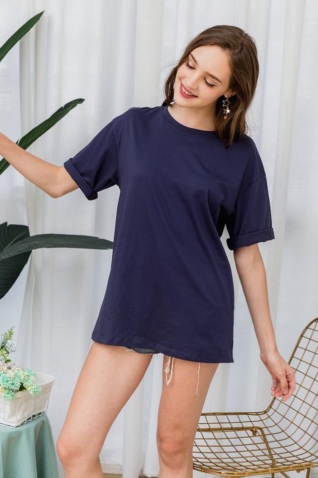 Ida Oversize Tee Dress Navy