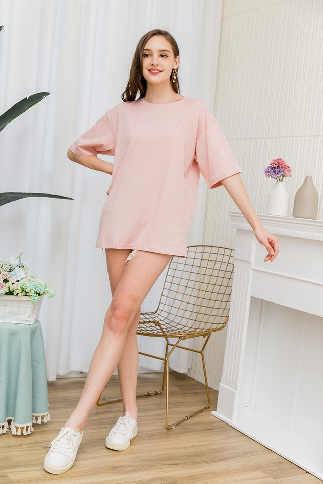 Ida Oversize Tee Dress Pink