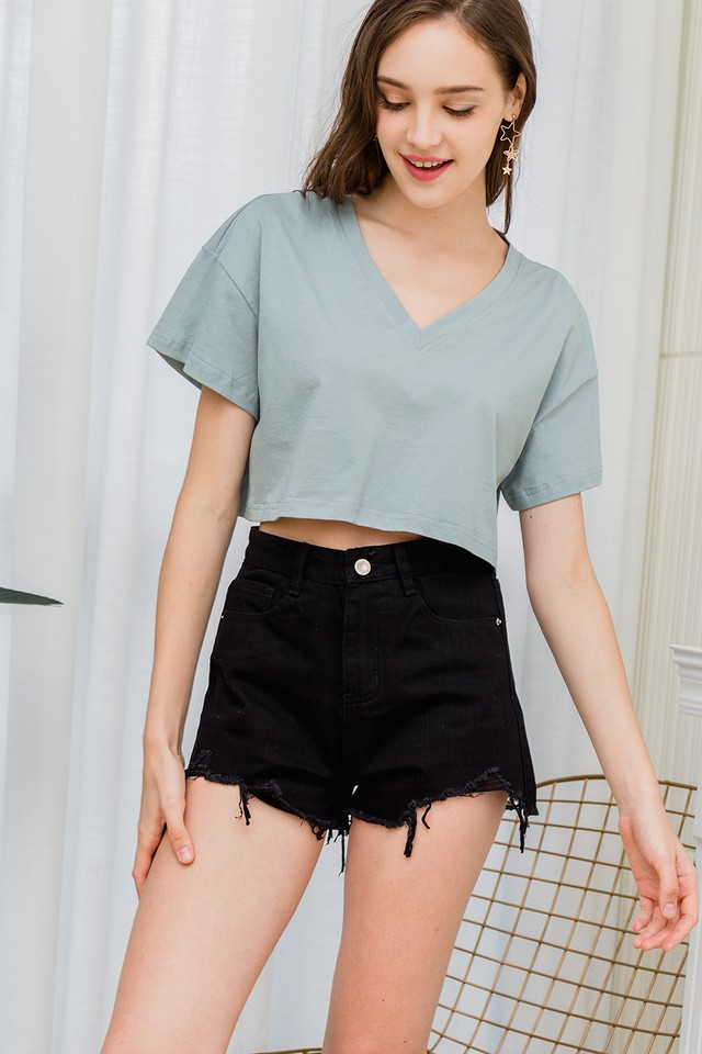 Noemi Crop Tee Mint