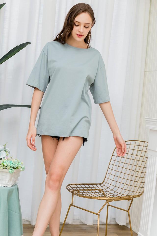 Ida Oversize Tee Dress Mint