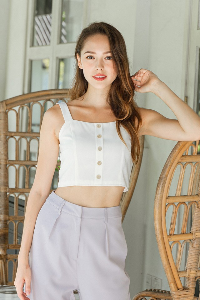 Althea Top White