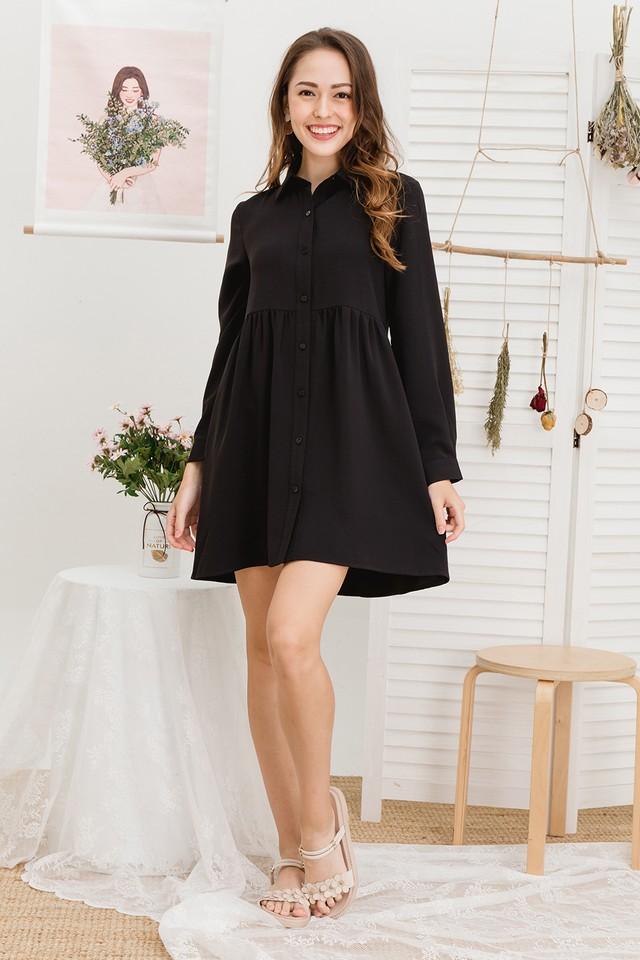Kaykay Shirtdress Black
