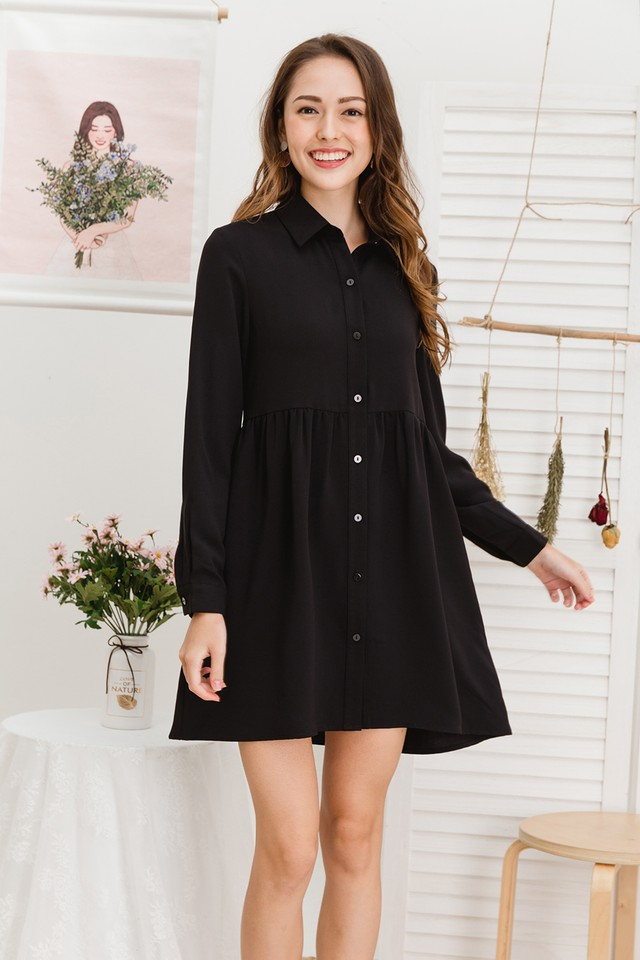 Kaykay Shirtdress Black