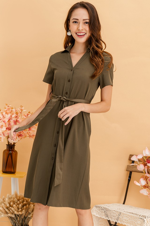 Calliope Dress Army