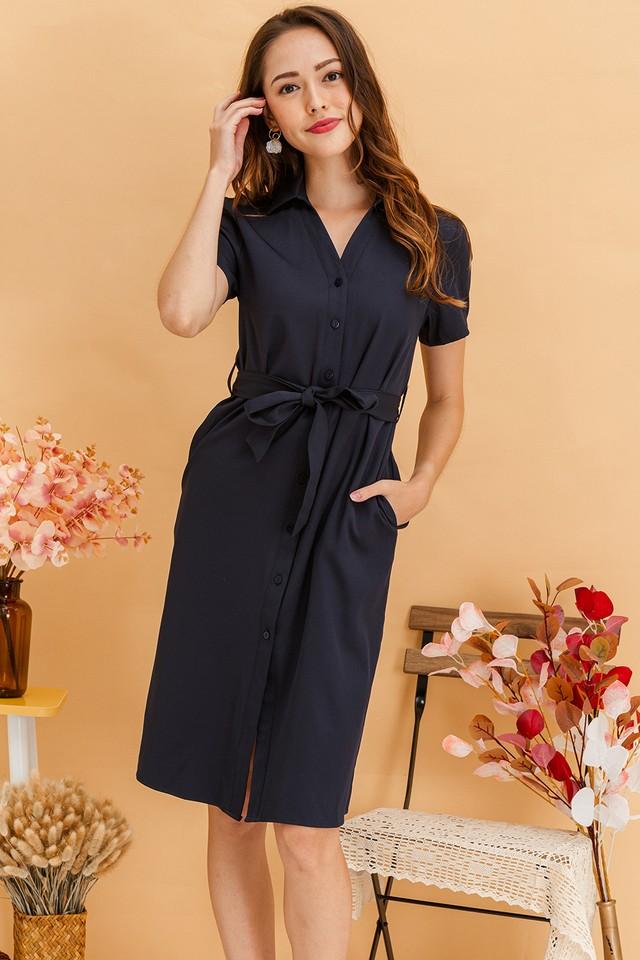 Calliope Dress Navy