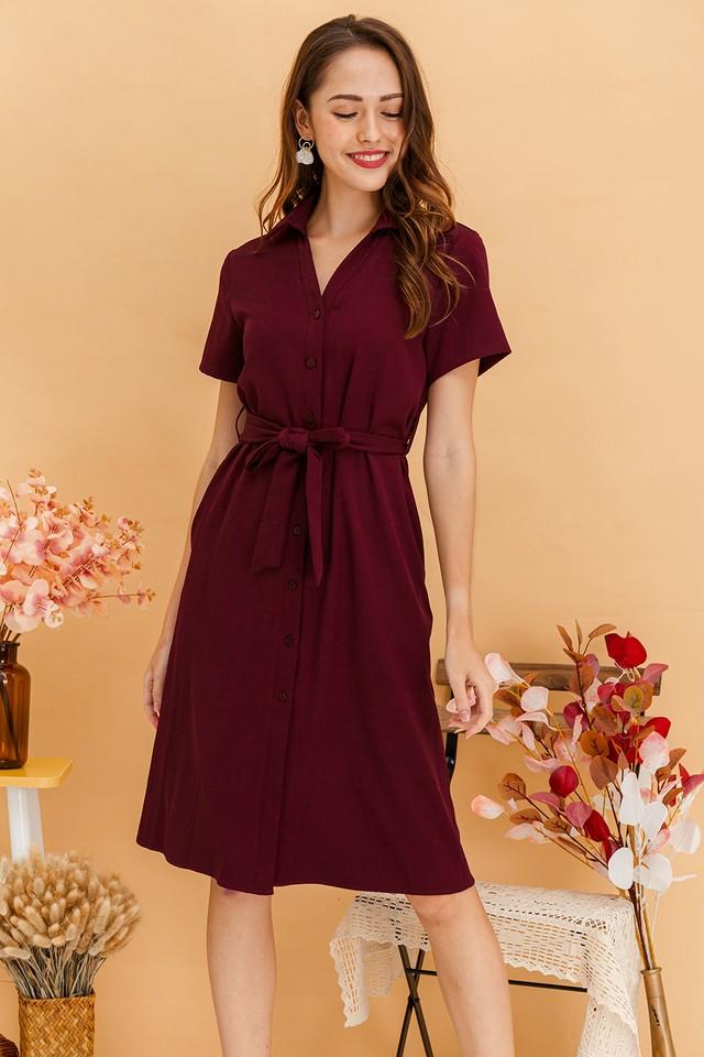 Calliope Dress Maroon