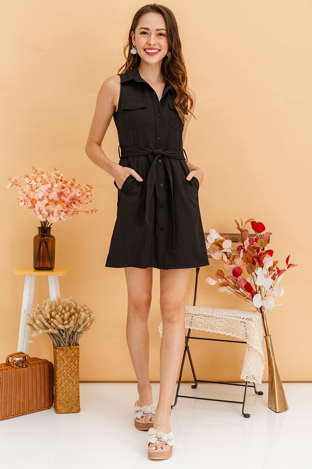 Elinna Shirtdress Black