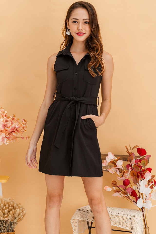 Elinna Shirtdress Black