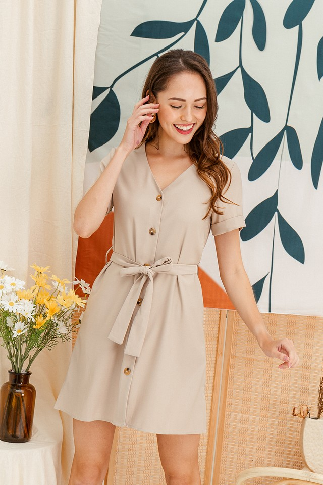 Abbey Dress Sand