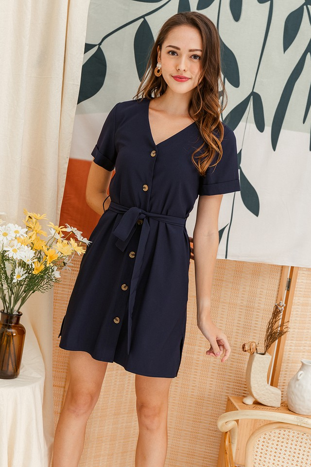 Abbey Dress Navy