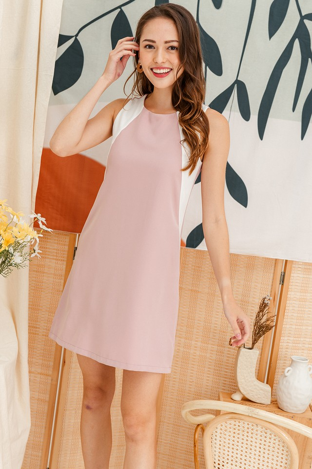 Porter Colourblock Dress Pink